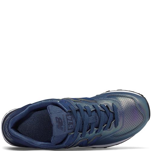 Кроссовки New Balance 574 цвета синий перламутр, фото