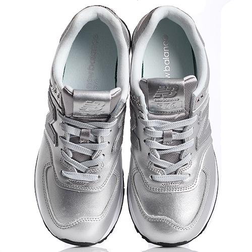 Женские кроссовки New Balance 574 серебристого цвета WL574NRI-o, фото