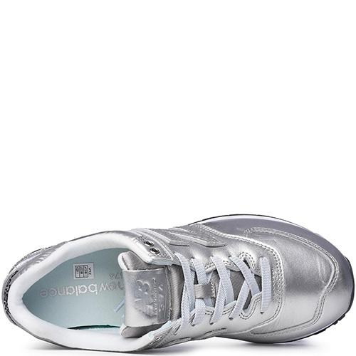☆ Женские кроссовки New Balance 574 серебристого цвета WL574NRI ... 0bbfaf4ca52d4