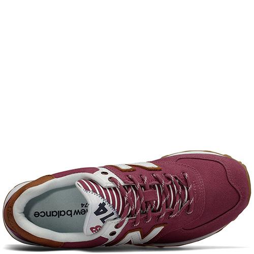 Женские кроссовки New Balance 574 бордового цвета, фото
