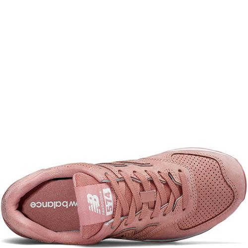 Женские кроссовки New Balance 574 кораллового цвета, фото