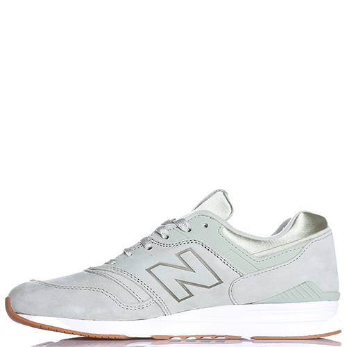 Мятные кроссовки New Balance 697 из нубука, фото