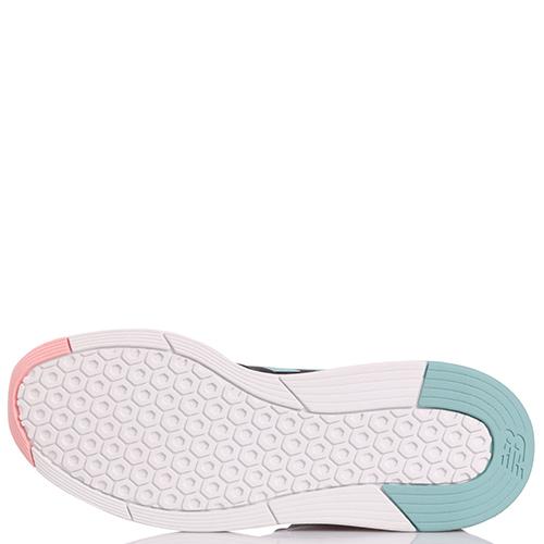 Серые кроссовки New Balance 247 Tritium с розово-голубыми вставками, фото