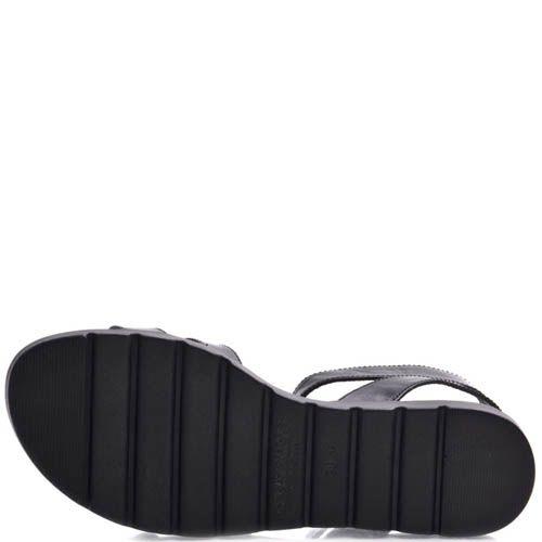 Сандалии Prego женские спортивные черного цвета с пряжками, фото