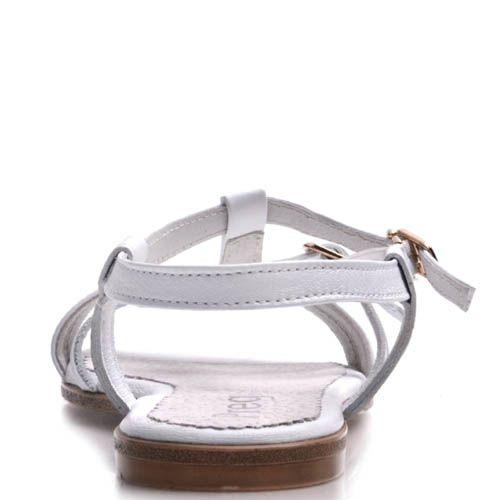 Сандалии Prego белого цвета с тонкими перемычками, фото