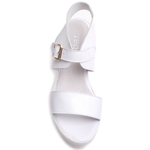 Сандалии Prego спортивные на широкой подошве полностью белые, фото