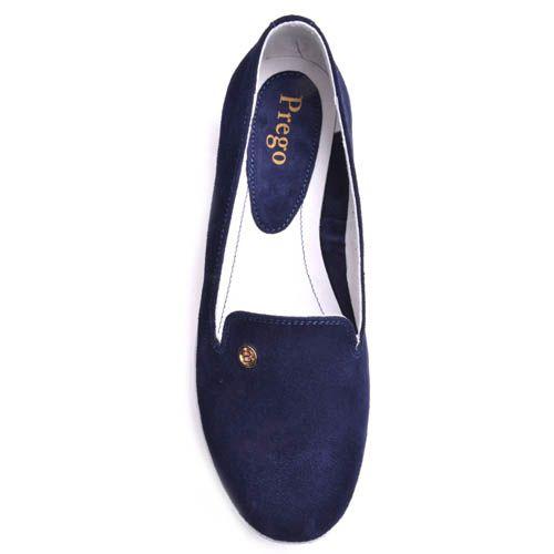 Слиперы Prego женские замшевые синего цвета, фото
