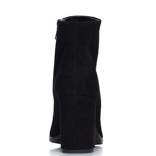 Высокие ботинки Prego из натуральной замши черного цвета, фото