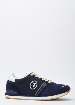Синие кроссовки Trussardi из текстиля, фото