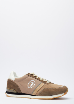 Кроссовки на шнуровке Trussardi из текстиля, фото