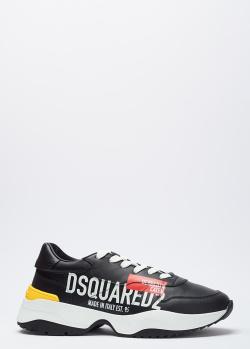 Черные кроссовки Dsquared2 с логотипом, фото