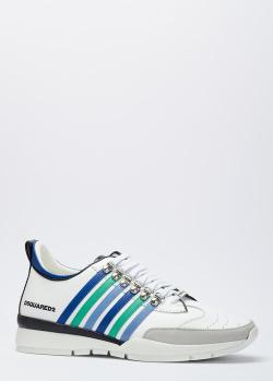 Кроссовки на шнуровке Dsquared2 из кожи, фото