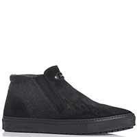 Мужские ботинки Baldinini с боковой молнией черного цвета, фото