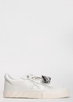 Мужские кеды Off-White из белой кожи, фото