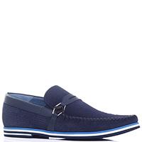 Туфли-лоферы Luca Guerrini Gomma синего цвета, фото