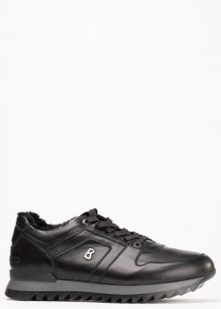Зимние кроссовки Bogner из черной кожи, фото