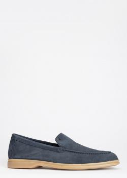 Мужские лоферы Luca Guerrini темно-синего цвета, фото