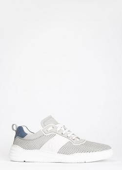 Серые кроссовки Luca Guerrini с крупной перфорацией, фото