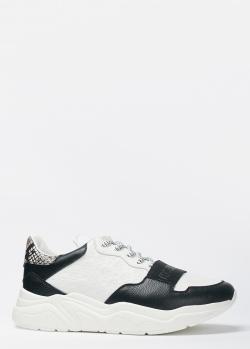 Кроссовки Roberto Cavalli с принтом под рептилию на пятке, фото