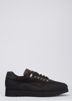 Коричневые кроссовки Luca Guerrini на меху, фото