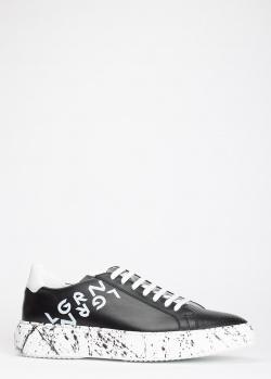 Черные кеды Luca Guerrini с эффектом брызг краски, фото