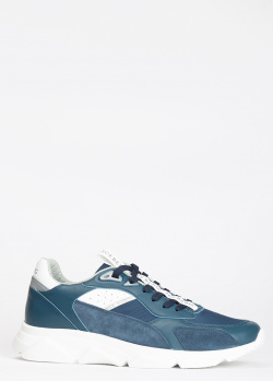 Синие кроссовки Iceberg с брендовой надписью, фото