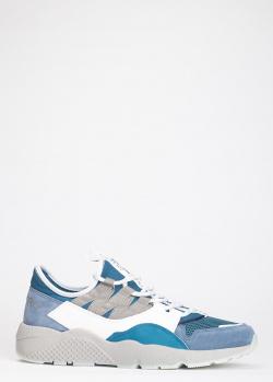 Синие кроссовки Iceberg на толстой подошве, фото