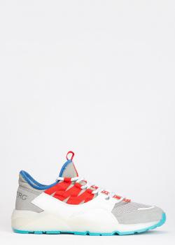 Серые кроссовки Iceberg с яркими вставками, фото