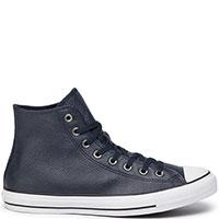 Темно-синие кеды Converse Chuck Taylor All Star Mono Leather Hi, фото