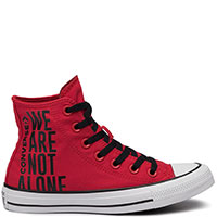 Мужские красные кеды Converse Chuck Taylor All Star Ctas Hi We Are Not Alone, фото