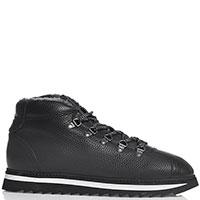 Ботинки Doucal's на толстой подошве черного цвета, фото