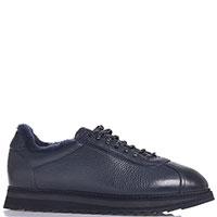 Мужские кроссовки Doucal's на толстой подошве синего цвета, фото