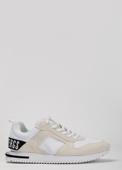 Белые кроссовки Bikkembergs с бежевыми вставками, фото