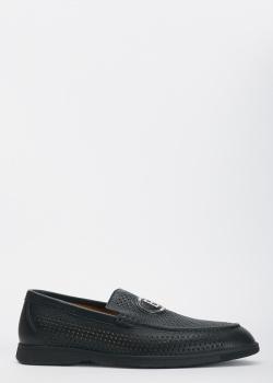 Мужские туфли Baldinini с брендовым декором, фото