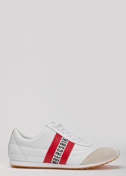 Белые кроссовки Bikkembergs с перфорацией, фото