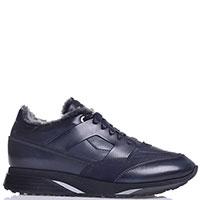 Кроссовки Santoni синего цвета на толстой подошве, фото