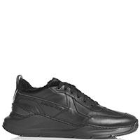 Кроссовки Santoni на толстой подошве черного цвета, фото