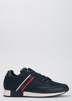 Темно-синие кроссовки Paul&Shark с брендовой нашивкой, фото