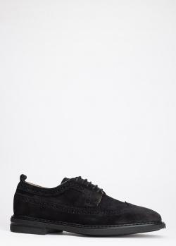 Туфли-броги Dino Bigioni из черной замши, фото