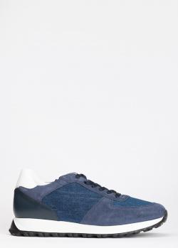 Мужские кроссовки Dino Bigioni с джинсовыми вставками, фото