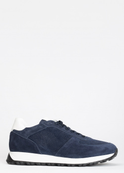 Замшевые кроссовки Dino Bigioni синего цвета, фото