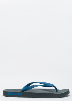 Резиновые вьетнамки Emporio Armani синего цвета, фото