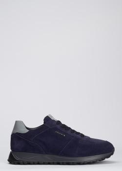 Синие кроссовки Dino Bigioni из замши, фото