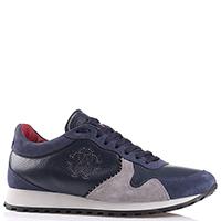 Синие кроссовки Roberto Cavalli с серыми вставками, фото