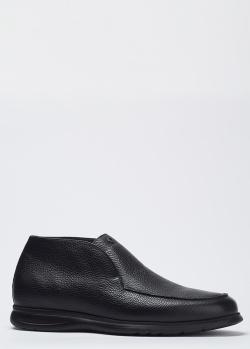 Кожаные ботинки Pakerson с мехом внутри, фото