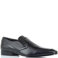 Мужские туфли Borsalino из кожи с вставками под кожу рептилии, фото