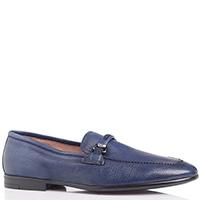 Туфли-лоферы FABI из кожи синего цвета, фото