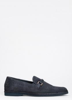 Туфли-лоферы Giampiero Nicola темно-синего цвета, фото
