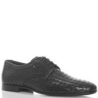 Черные туфли Roberto Serpentini из кожи с плетением, фото