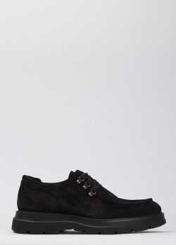 Замшевые туфли Giampiero Nicola черного цвета, фото